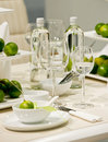 Table decoration with lime Stock Image