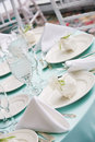 Table details from a wedding Royalty Free Stock Photo