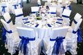 Table event wedding decorations and arrangements Royalty Free Stock Photos
