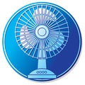 Table fan button for the home and office electric icon symbol Royalty Free Stock Images