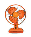 Table fan cartoon Royalty Free Stock Photo