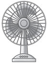 Table fan for the home and office electric Royalty Free Stock Image