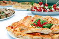 Table with food full of mediterranean appetizers Stock Photos