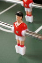 Table football players selective focus on red player Stock Images