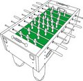 Table Football And Soccer Game Perspective Vector Stock Image