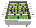 Table Football Soccer Game Perspective Vector Royalty Free Stock Photo