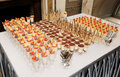Table with great quantity of desserts catering event Royalty Free Stock Photos