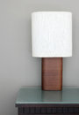 Table lamp in the room Royalty Free Stock Image