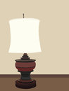 Table lamp vector illustration of Royalty Free Stock Photos