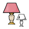 Table lamps vector illustration on a white background Stock Images
