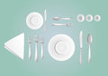 Table layout a lot of cutlery on the Royalty Free Stock Images