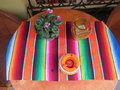 Table with Mexican Cloth Royalty Free Stock Photo