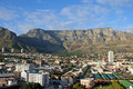 Table Mountain in Cape Town with City View Royalty Free Stock Image