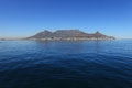Table Mountain Cape Town South Africa from sea Royalty Free Stock Photo