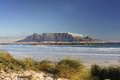 Table mountain cape town view of southafrica Stock Photography