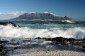 Table mountain cape town view of southafrica Stock Photos