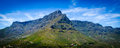 Table mountain view of from lions head walk in south africa Royalty Free Stock Images