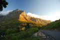 Table Mountain view from Signal Hill road. Cape Town. South Africa Royalty Free Stock Photo