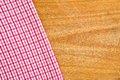 Table napkin kitchen on wooden background Royalty Free Stock Photo