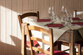 Table Restaurant Four Vacant Available Tuscany Royalty Free Stock Photo