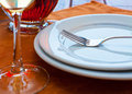 Table servie de restaurant Photo stock