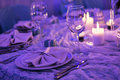 Table set for a dinner good Royalty Free Stock Images