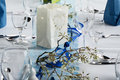 Table set for dinner party Royalty Free Stock Photo
