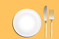 Table set dish knife and fork the Royalty Free Stock Photography