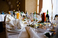 Table set for an event party Royalty Free Stock Photography