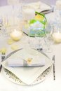 Table set for event party or wedding reception an Stock Image