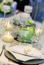 Table set for event party or wedding reception an Royalty Free Stock Photography