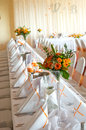 Table set for reception Stock Photography