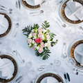 Table set for six Stock Images