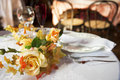 Table set for two spouses Royalty Free Stock Photography