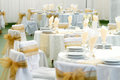 Table set for wedding Royalty Free Stock Photography