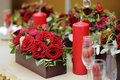 Table set for wedding reception an romantic dinner or Royalty Free Stock Photo