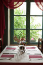 Table set and window Royalty Free Stock Image