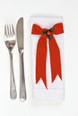 Table setting for Christmas Stock Image