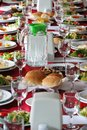 Table setting country side restaurant turkey black sea region Royalty Free Stock Photo