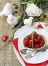 Table setting for dessert Royalty Free Stock Images