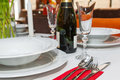 Table setting details. Royalty Free Stock Photo