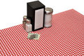 Table Setting at Diner Royalty Free Stock Photo