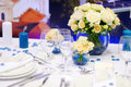 Table setting for an event party or wedding reception Royalty Free Stock Photography