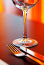 Table setting with glass Royalty Free Stock Photo