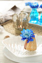 Table setting in maritime styl Royalty Free Stock Photos