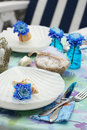 Table setting in maritime styl Royalty Free Stock Photo
