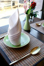 Table setting in an oriental restaurant Royalty Free Stock Photography