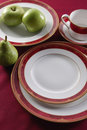 Table setting Red Stock Photo
