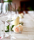 Table setting at a restaurant. Royalty Free Stock Images