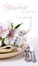 Table setting template Royalty Free Stock Photo